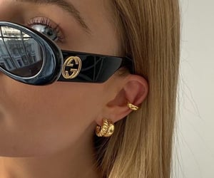 girl, gucci, and sunglasses image