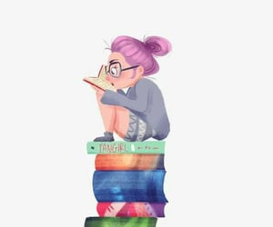 aesthetic, funny, and reading image