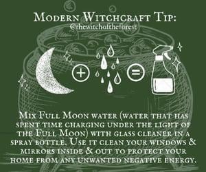 full moon, magic, and magick image