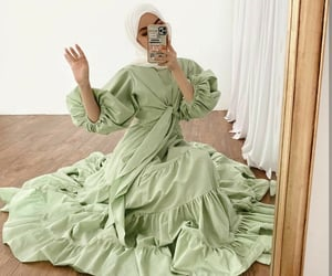 green, indonesian, and mirror selfie image