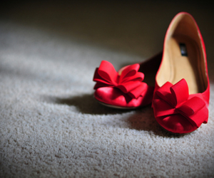 shoes, red, and flats image