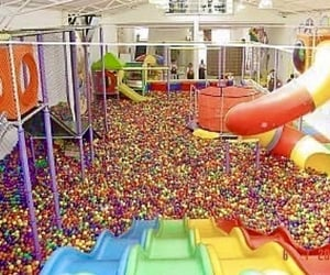 ball pit, childhood, and colorful image