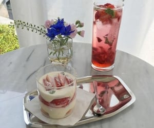 dessert, strawberry, and sweets image