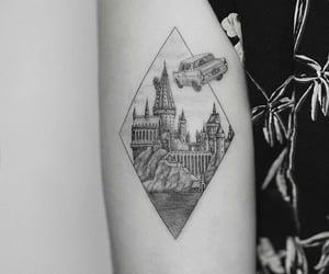 harry potter, hogwarts, and tattoo image