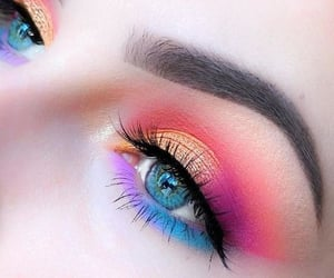 colorful, dramatic, and makeup image