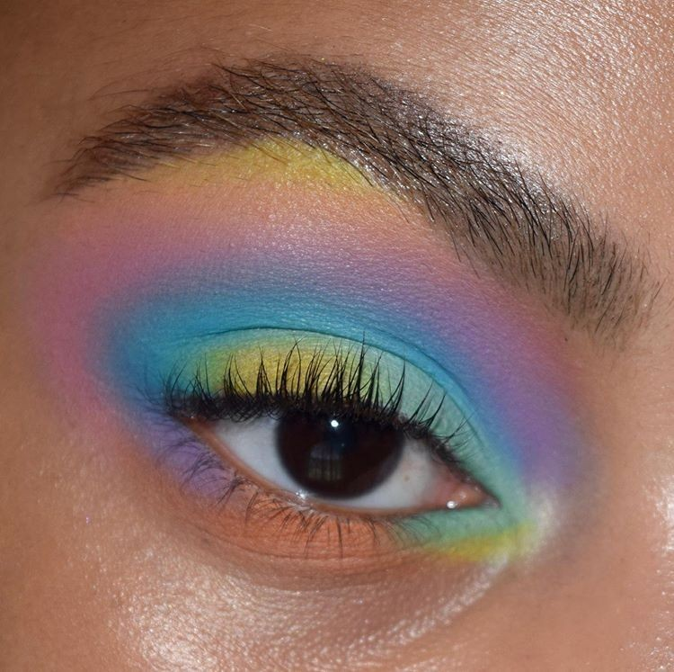 colorful, eyeliner, and eyeshadow image