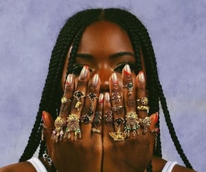 rings, melanin, and braids image