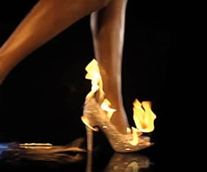 fire, gif, and heels image