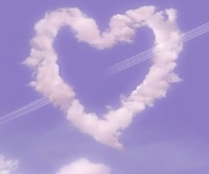heart, sky, and aesthetic image