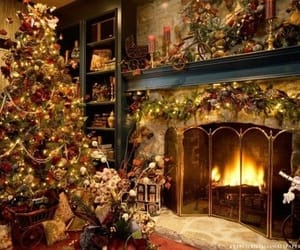 christmas, interior, and christmas tree image
