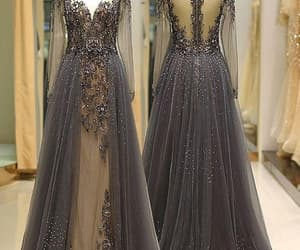 prom gown, black prom dress, and vintage prom dress image