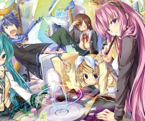 hatsune miku, japonese vocaloid, and kagamine len image