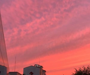 clouds, orange, and pretty image