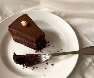food, aesthetic, and chocolate cake image