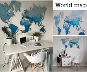 home decor, world map, and map of the world image