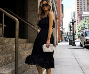 black dress, blogger, and fashion image
