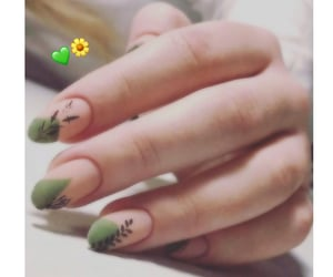 beauty, girls, and green image