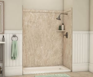 shower panel, walk-in shower, and bathroom contractors image