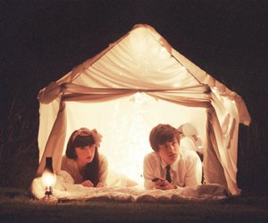 couple, boy, and tent image