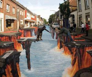 art, 3d, and street image