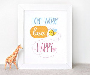be happy and bee image