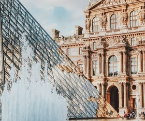 france, paris, and louvre image