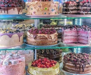 food, cake, and colors image