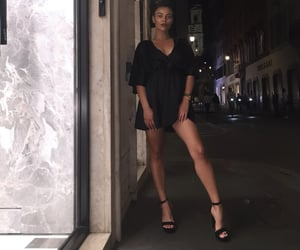 black, brunette, and date image
