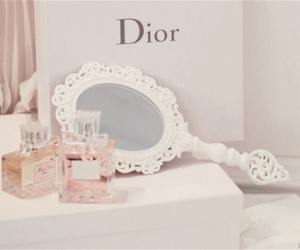 dior, mirror, and perfume image