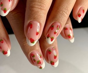 nails, strawberry, and aesthetic image