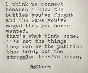 connection, quote, and j.m storm image