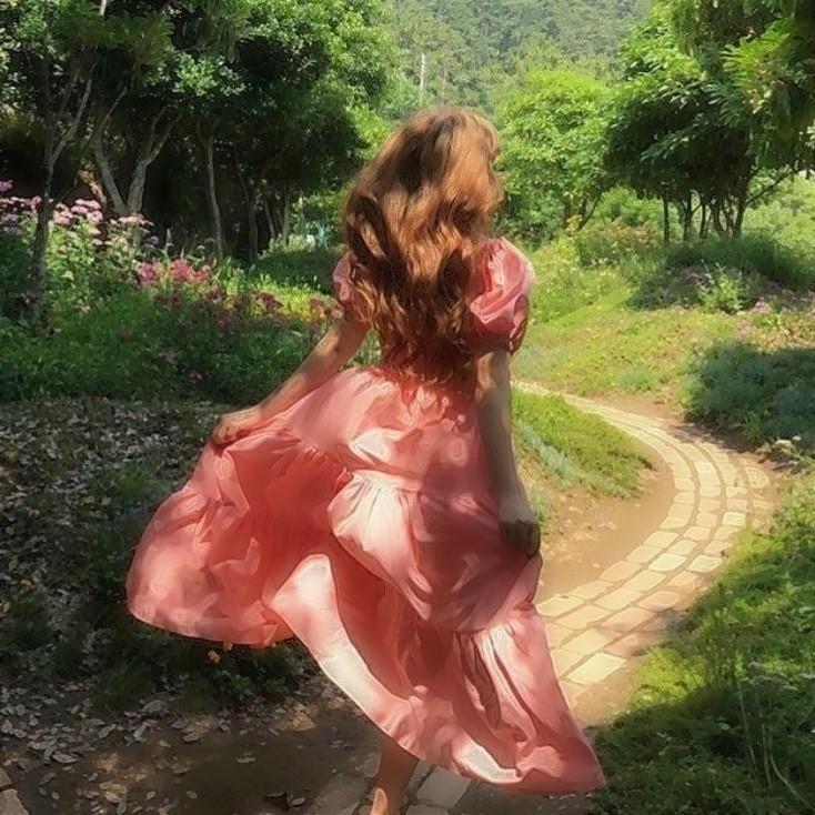 aesthetic, dress, and girly image