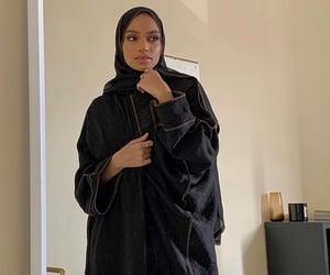 black, modest fashion, and hijab image