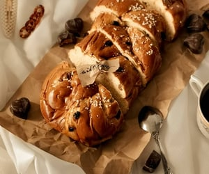 aesthetic, bread, and chocolate image