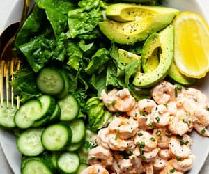 shrimp cocktail and avocado salad image