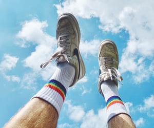 gay, rainbow, and socks image