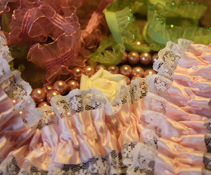 lace, pearls, and rose image