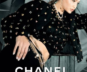 Gigi Hadidfor Chanel Pre-Fall 2020 campaign photographed by Melodie Mcdaniel.