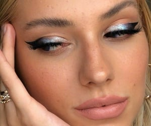 makeup, beauty, and girl image