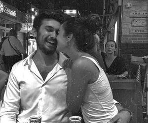 black and white, ابيض واسود, and love kiss kisses hug hugs image