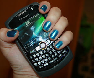 blackberry, blue, and nail polish image