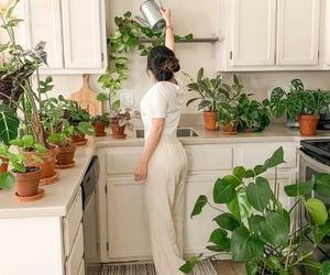 gardening, girl, and plants image