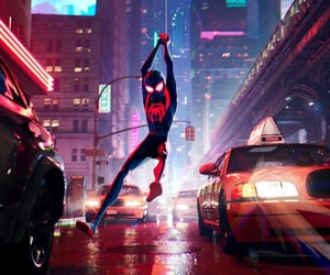 film, spiderman, and miles morales image