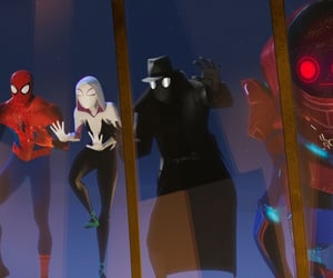 film, into the spiderverse, and spiderman image