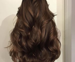 beautiful, hair, and brunette image
