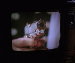 gun, tv, and vintage image