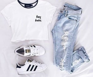 casual, style, and white image