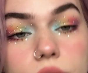 art, eyeshadow, and attitude image
