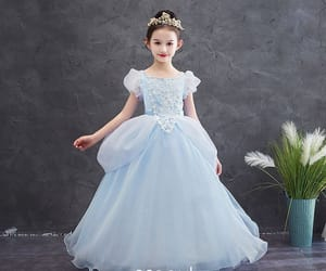 birthday dress, tulle dress, and flower girl dress image