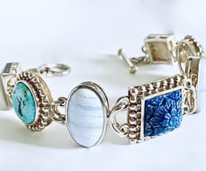 etsy, sterling silver, and lapis lazuli image